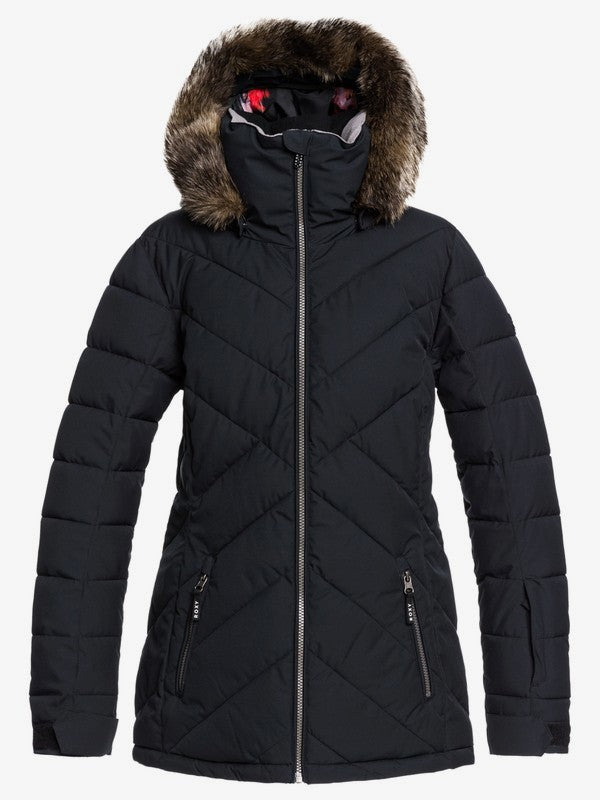 Roxy Women's Quinn Snow Jacket True black Front and main view