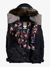 Roxy Women's Quinn Snow Jacket True black opened front view