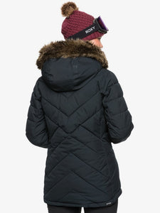 Roxy Women's Quinn Snow Jacket True black model back view