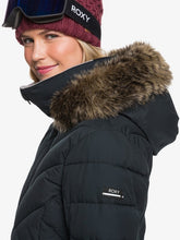 Roxy Women's Quinn Snow Jacket True black side view closeup