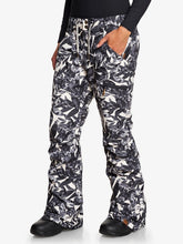 Roxy Women's Nadia Printed Snow Pant Hawaiian Palm Leaf Angled view