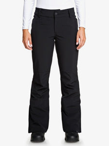 Roxy Women's Creek Short Snow Pant True black front modeled view