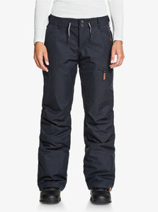 Roxy Women's Nadia Snow Pant True Black Front View