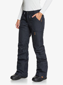 Roxy Women's Nadia Snow Pant True Black Angled Side VIew