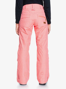 Roxy Women's Nadia Snow Pant Pink Coral Full Back View