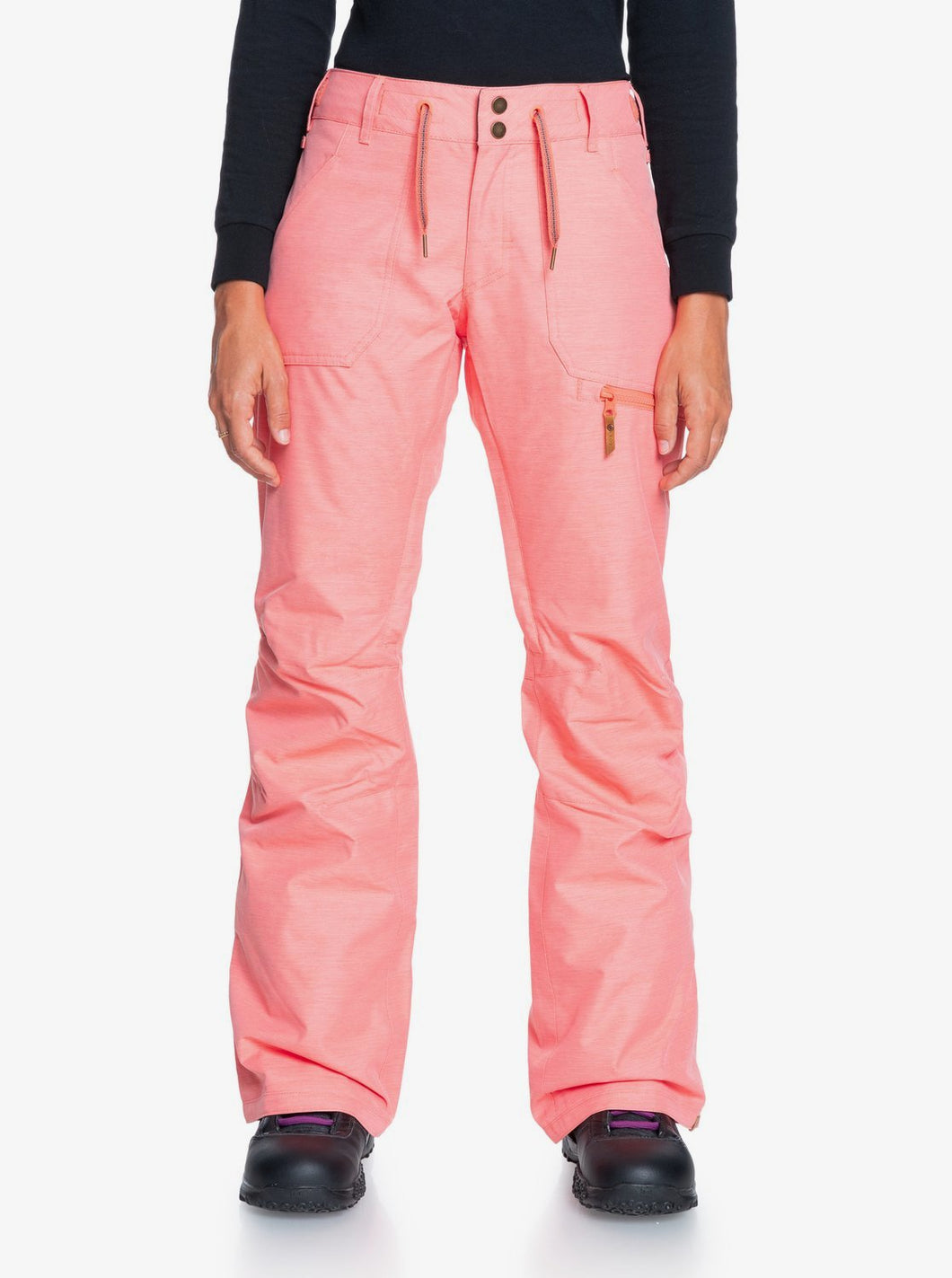 Roxy Women's Nadia Snow Pant Pink Coral Front Main View