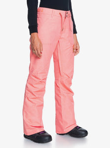 Roxy Women's Nadia Snow Pant Pink Coral Angled Side View