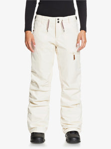Roxy Women's Nadia Snow Pant White Front Main View