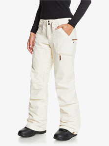Roxy Women's Nadia Snow Pant White Angled Side VIew