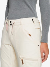 Roxy Women's Nadia Snow Pant White Front Pocket Close Up