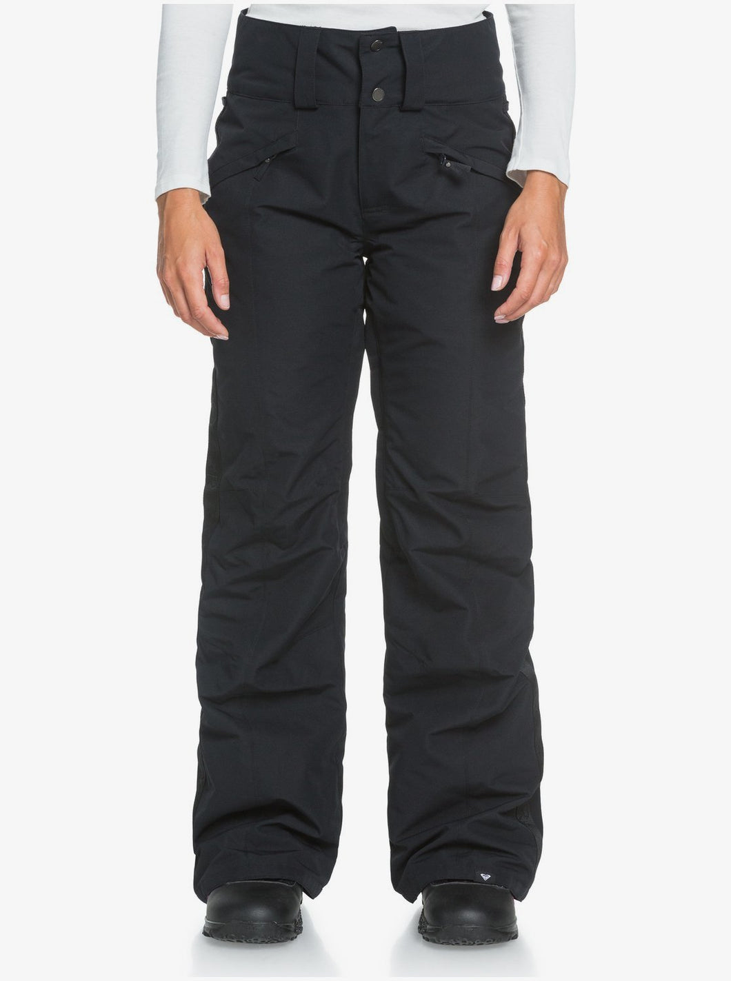 Roxy Women's Spiral Snow Pant True Black Front View