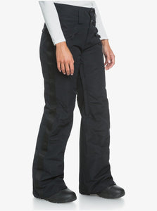 Roxy Women's Spiral Snow Pant True Black Angled Side View