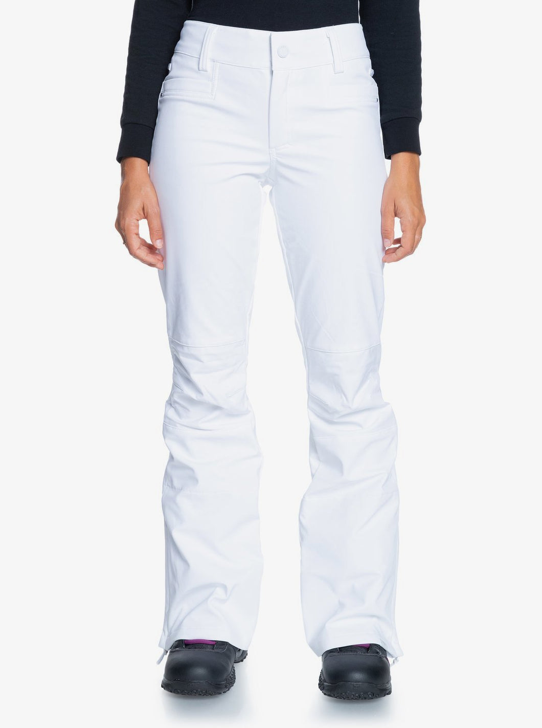 Roxy Women's Creek Snow Pant White Front View