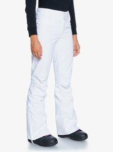 Roxy Women's Creek Snow Pant White Angled Side View