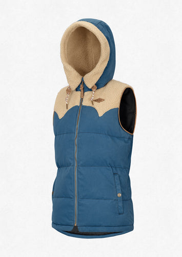 Picture Women's Holly Full Zip Vest Sherpa Lined Jacket Blue Front
