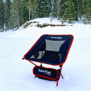 light weight portable camping chair works on all surfaces