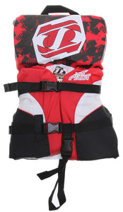 Jet Pilot Infant Kids Pistol Wakeboard Boating Water Ski Life Vest Jacket Red