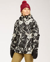 Billabong Women's Sula Snow Jacket Black Floral Front Modeled View