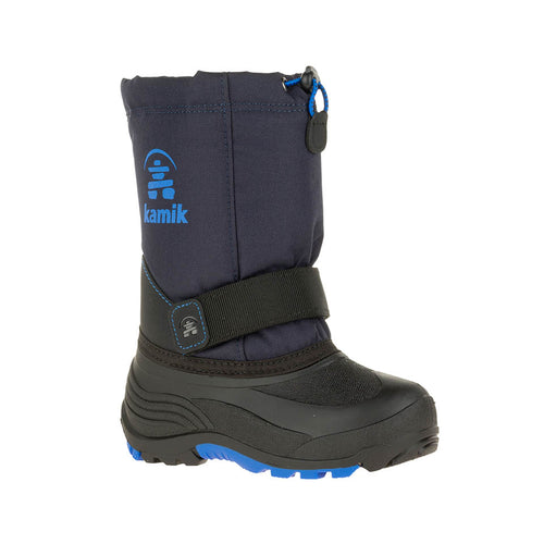 Kamik Kids Youth Rocket Winter Boot Insulated Waterproof Cold Weather Navy Main