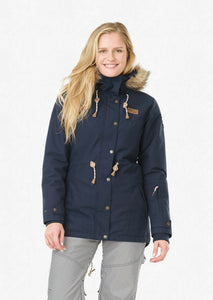 Picture Women's Katniss 10K Ski and Snowboard Jacket Dark Blue Front Model