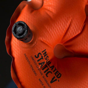 Insulated Static V Orange Lightweight Sleeping Pad