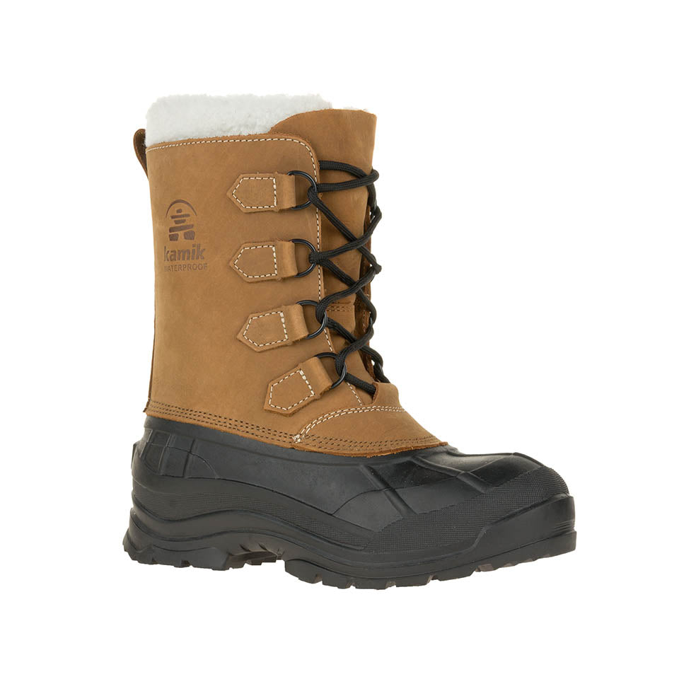 Kamik Alborg Women's -60 degree insulated waterproof winter snow boot tan main