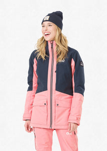 Picture Women's Mineral 10K Waterproof Ski and Snowboard Jacket Dark Blue Front Model