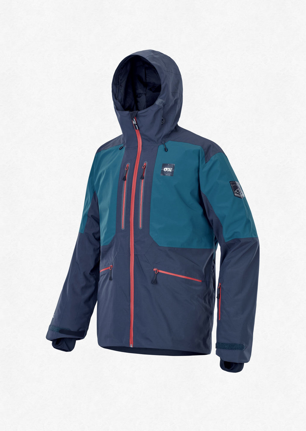 Picture Men's Naikoon 20k Waterproof Ski and Snowboard Jacket Dar Blue Front