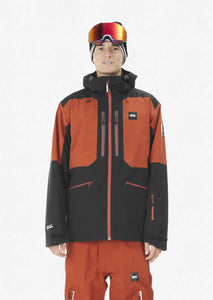 Picture Men's Naikoon 20k Waterproof Ski and Snowboard Jacket Brick Front Close Up Model