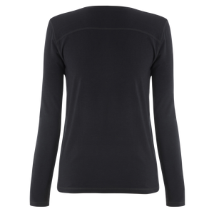 Le Bent Le Base 200 Crew Women's Baselayer Crewneck Top Black Back