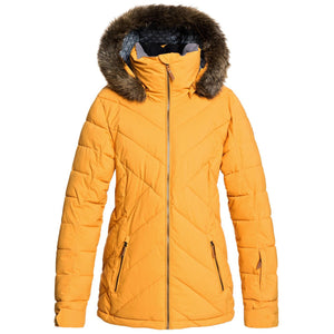 Roxy Women's Quinn Snow Jacket Spruce Yellow Front and main view