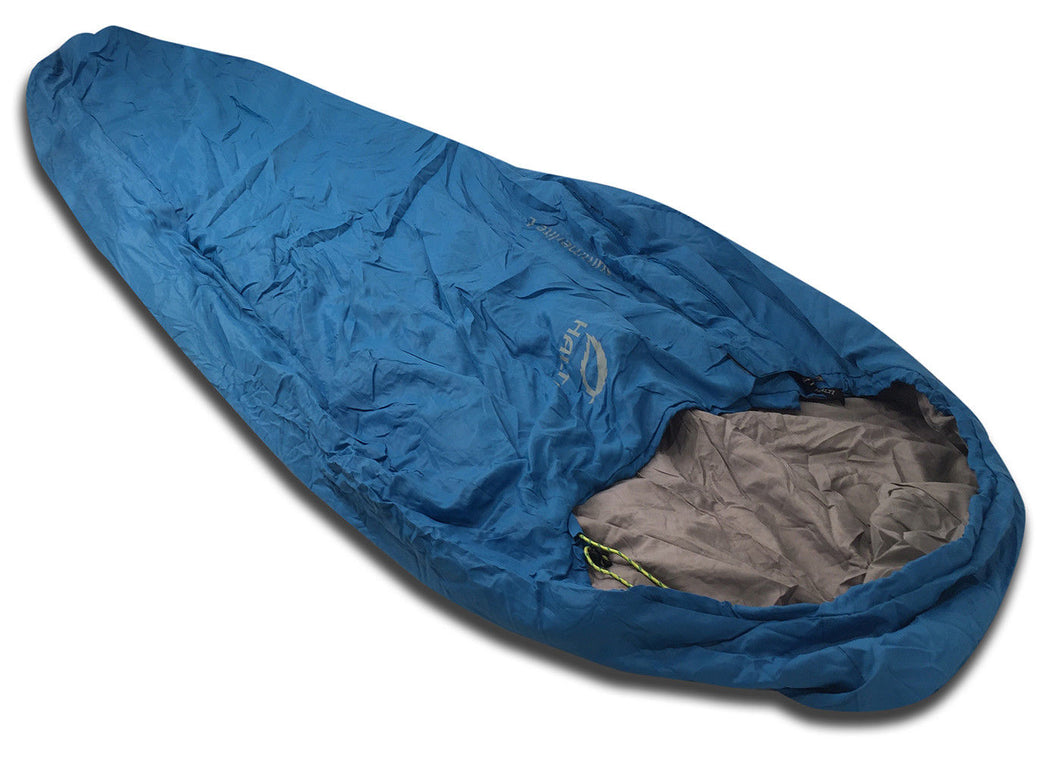 Halti Summerlite Large 40 Degree Ultra Lightweight Mummy Sleeping Bag with Stuff Sack