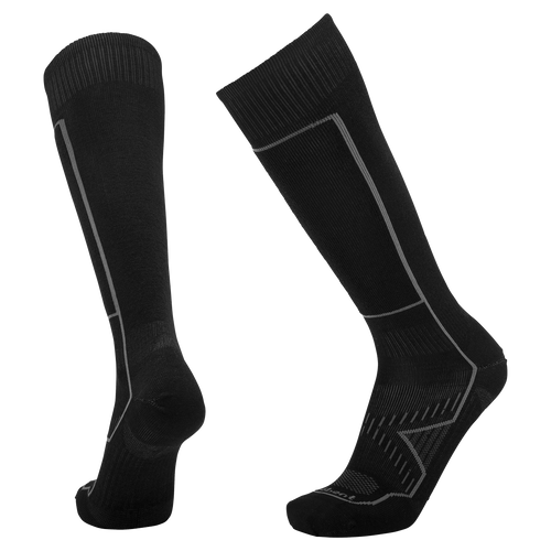 Lebent Le Snow ultralight merino wool bamboo rayon blend ski and snowboard sock stealth black