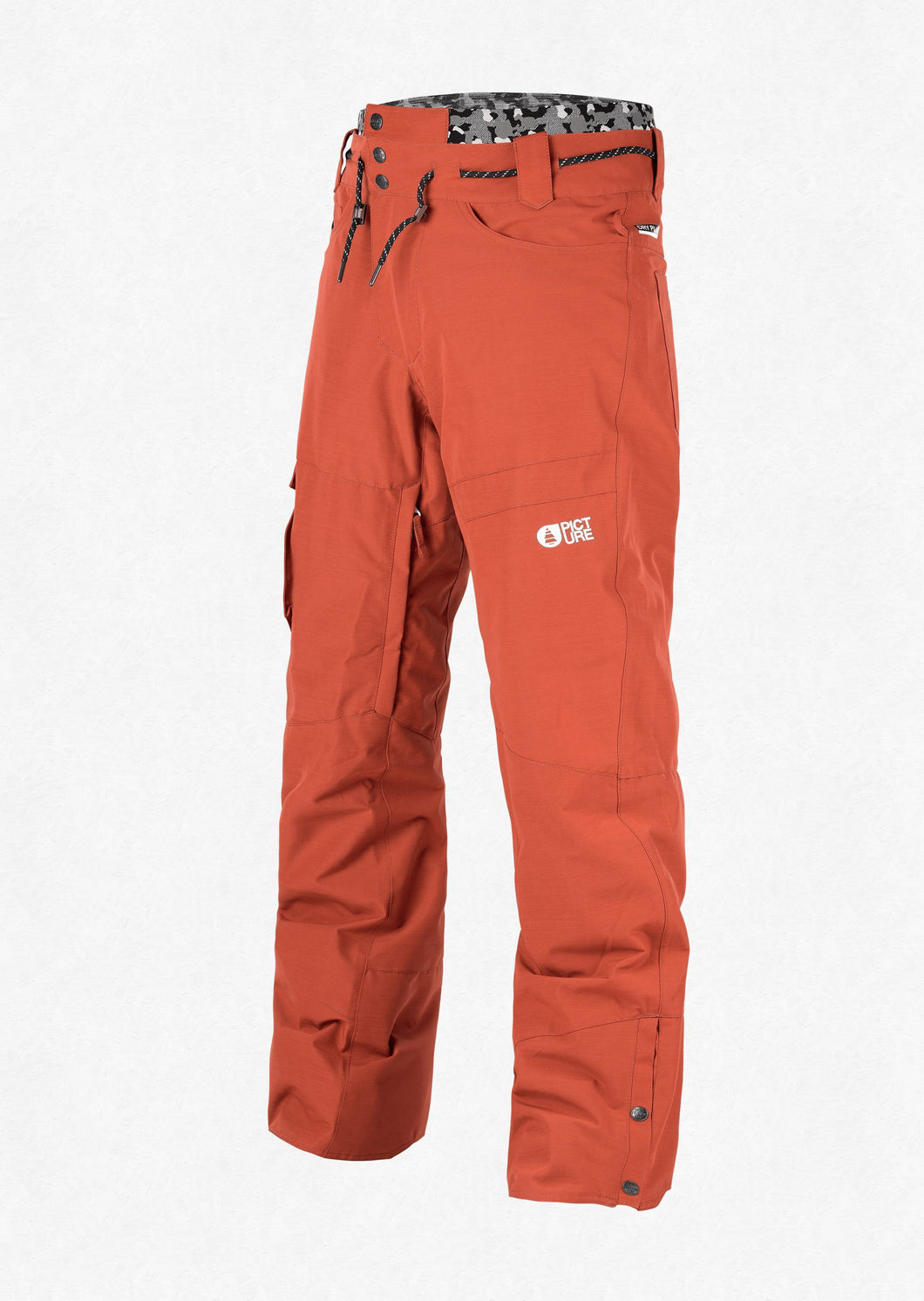 Picture Organic Clothing Men's Under Pant Ski and Snowboard Pant Brick Front