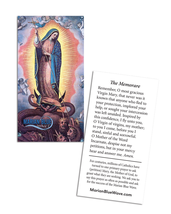 Marian Blue Wave Prayer Card