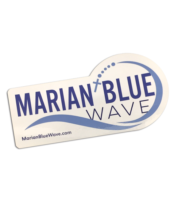 Marian Blue Wave Bumper Sticker