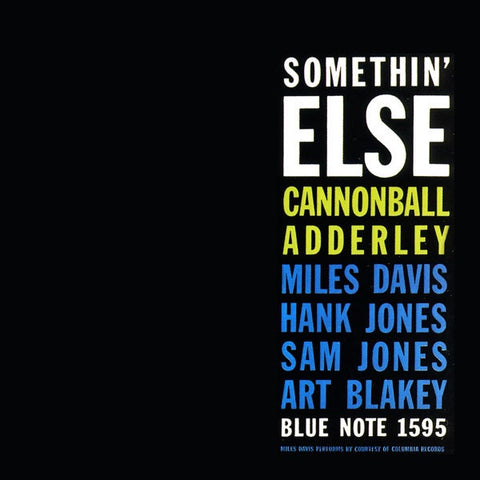 Adderley, Cannonball - Somethin' Else (Gatefold)