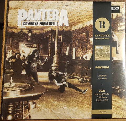 Pantera - Cowboys From Hell (Marbled White & Whiskey Brown Vinyl)