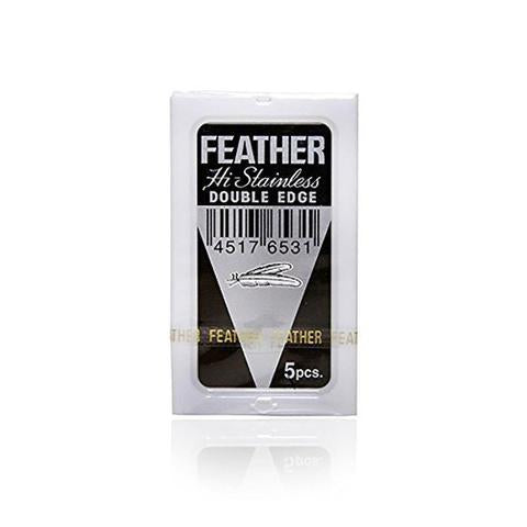 Feather - Hi Stainless Double Edge Blades, 5 Pack