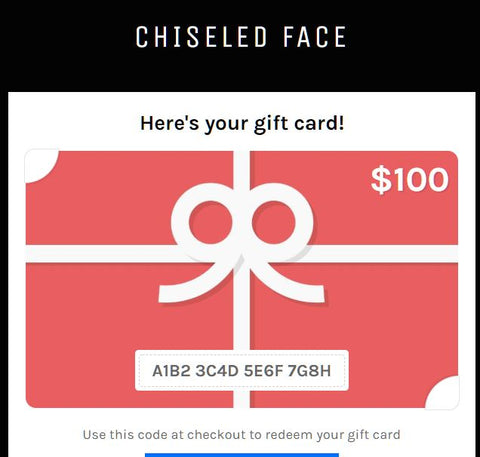 Chiseled Face Gift Card