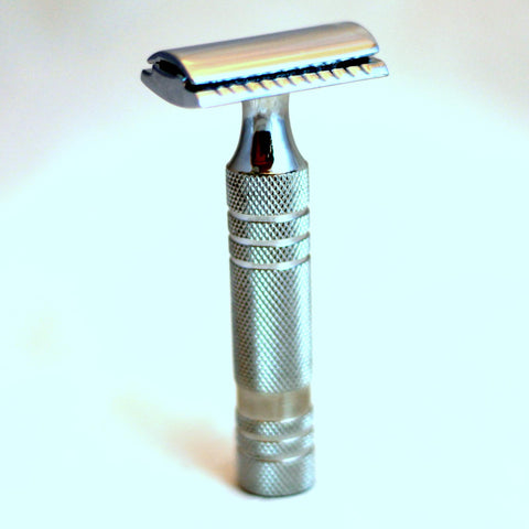 Bassline DE Safety Razor Handle (handle only) Stainless Steel
