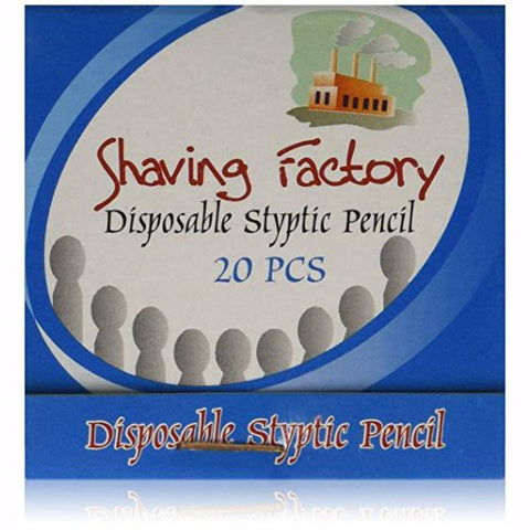 Shaving Factory Disposable Styptic Pencils Matchbook Of 20