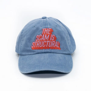 The Scam is Structural Denim Cap