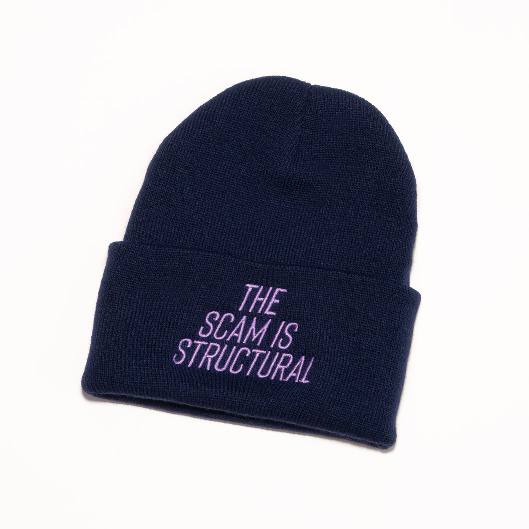 The Scam is Structural Beanie