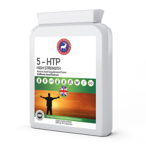 5-HTP - HIGH STRENGHT GRIFFONIA SEED EXTRACT 200mg 90 Capsules