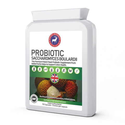 Probiotic Saccharomyces Boulardii 5 billion CFU 90 Capsules
