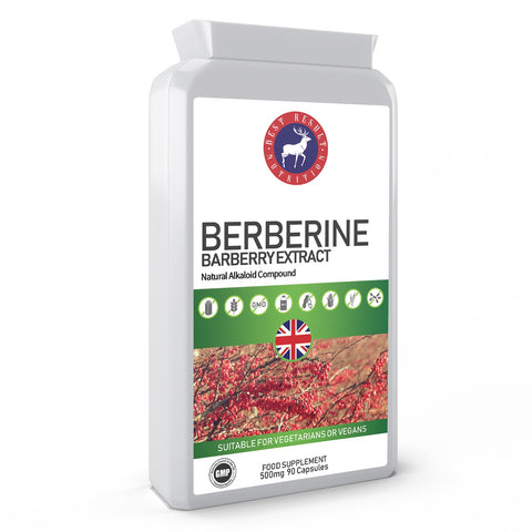 Berberine Extract from Barberry 500mg 90 Capsules