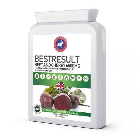 BestResult Beet and Cherry 4500mg 60 Capsules