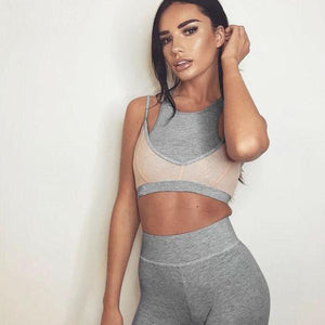 Pastel Duo Crop Top & Leggings Set