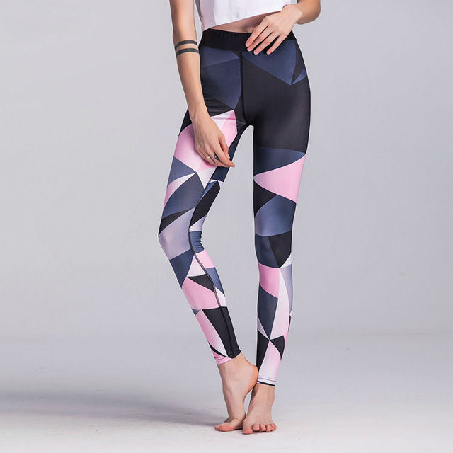 Pastel Abstract Fitness Leggings